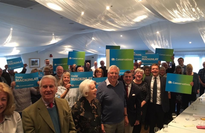 Craig Mackinlay, re-selected as Conservative Parliamentary Candidate for South Thanet