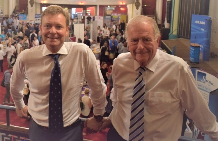 Craig Mackinlay MP & Sir Roger Gale MP, Jobs Fair